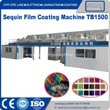 Metallized PET sequins sheet film coating machine TB1500
